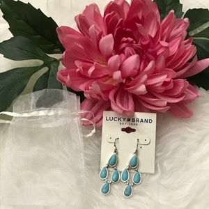 Lucky Brand Turquoise Drop Earrings *NWT*